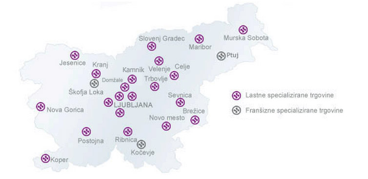 Sanolabor zemljevid