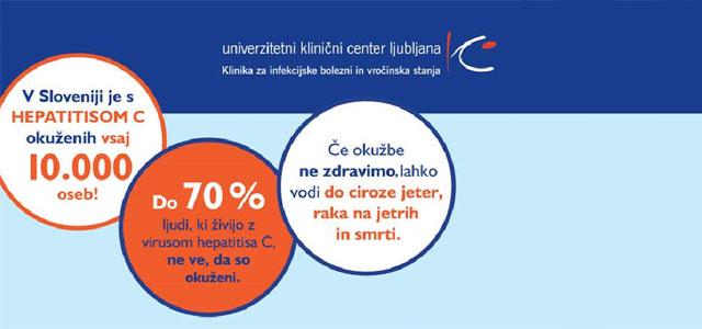 Po ocenah strokovnjakov je v Sloveniji z virusom hepatitisa C okuženih od pol do enega odstotka splošne populacije, torej do dvajset tisoč ljudi, le tri tisoč, to je ...