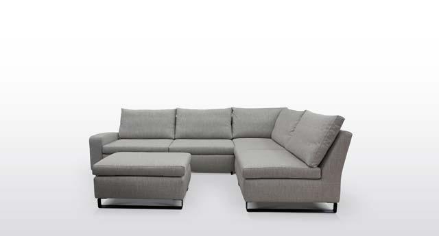 Sedežna garnitura manjših dimenzij (Lima), vendar z veliko uporabnega prostora.