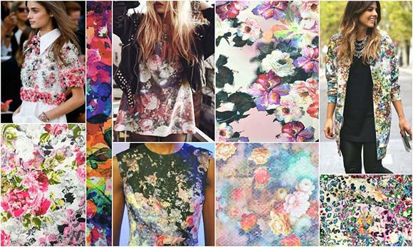 V ponudbi je tudi veliko blaga s cvetličnimi vzorci.