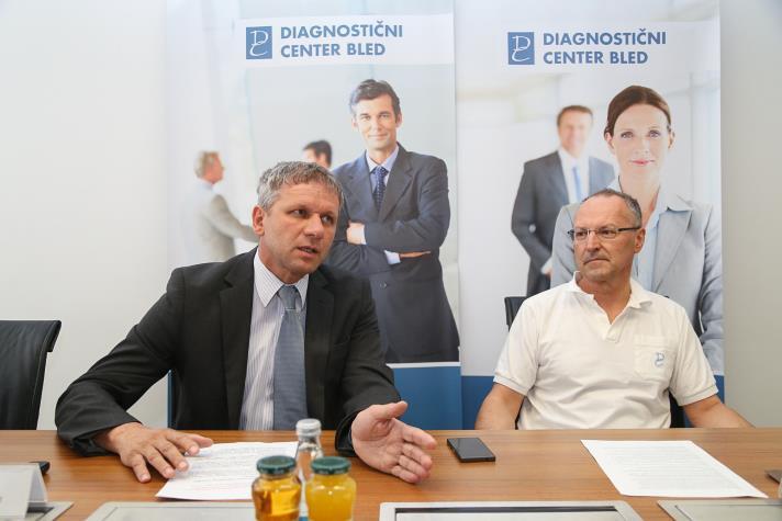 712x Zvone Novina generalni direktor DC Bled (levo) in Milan Stefanovič strokovni direktor (Foto Barbara Reya)