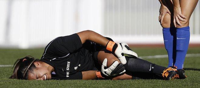Boise State goalkeeper Liz Ruiz
