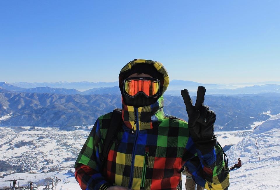skijanje zima snijeg maska