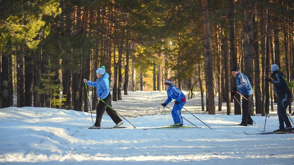 snijeg skijanje zima ljudi