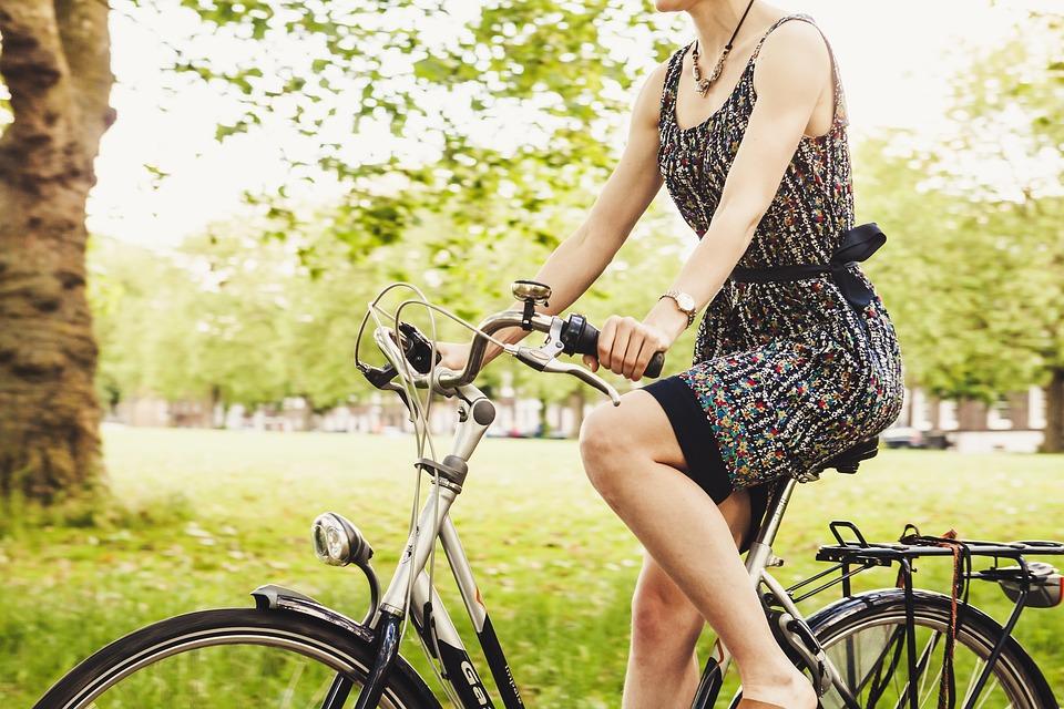 tjelovjezba kretanje bicikl zena priroda