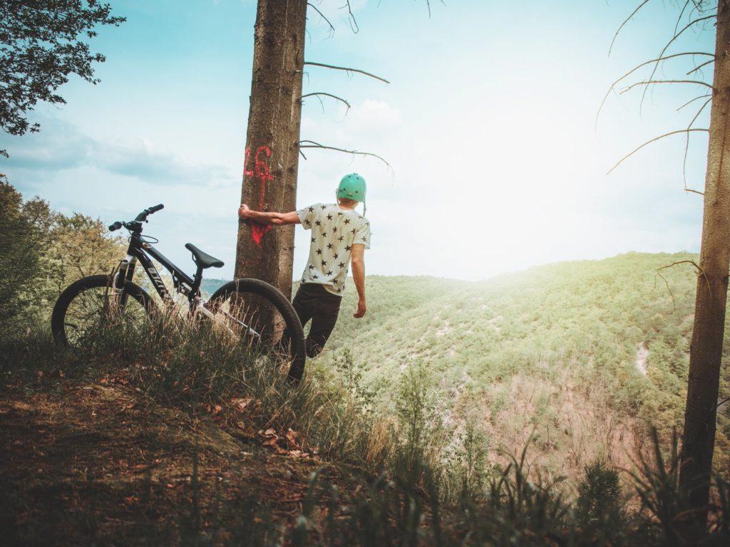 kolesarjenje gibanje narava zrak