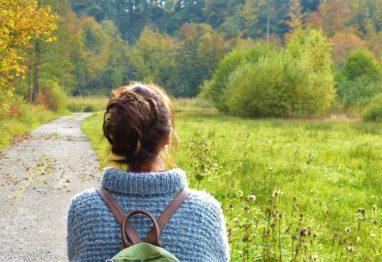 ženska, narava, sprehod, mir