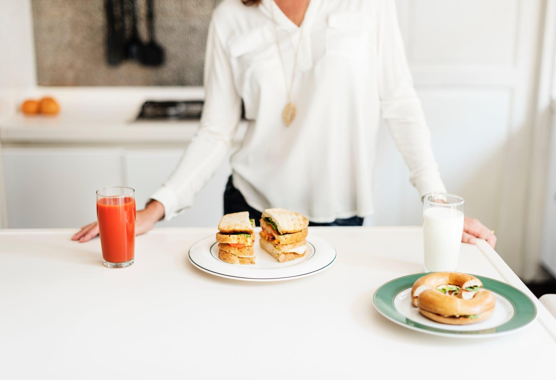 hrana dorucak prehrana sok mlijeko sendvic dijeta mrsavljenje kilogram
