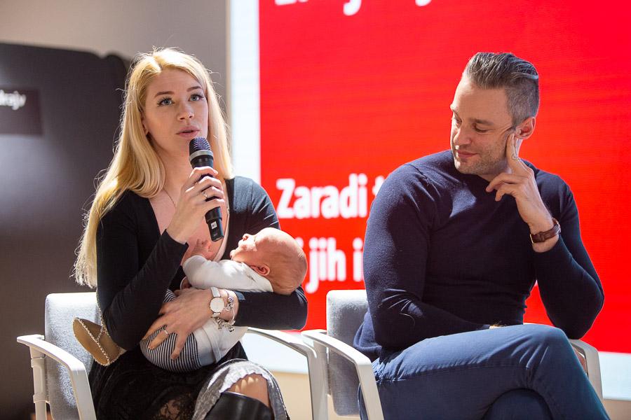 Lara Koren Nastran in Jaka Nastran ob izdaji Vodnika za bodoče starše