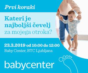 Baby Center dogodek Prvi koraki