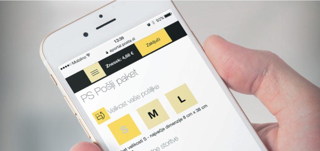 aplikacija Pošta Slovenije
