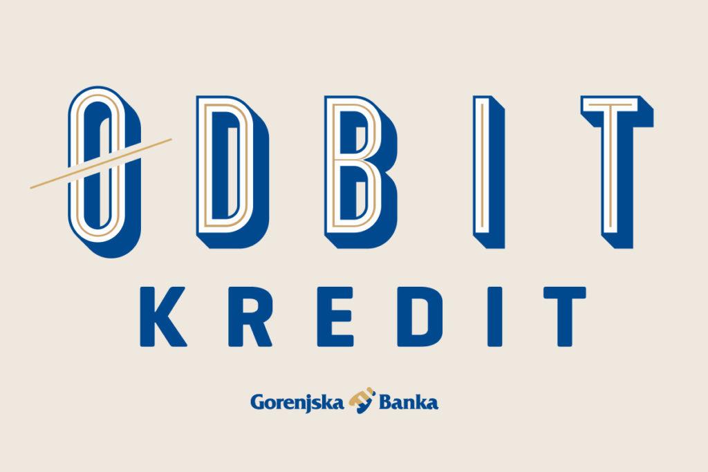 slika z napisom odbit kredit Gorenjska banka