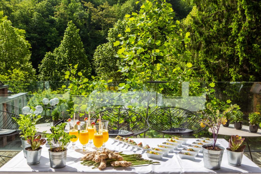 Narava Šmarješke Toplice, kozarci s smoothiji in zdrava hrana