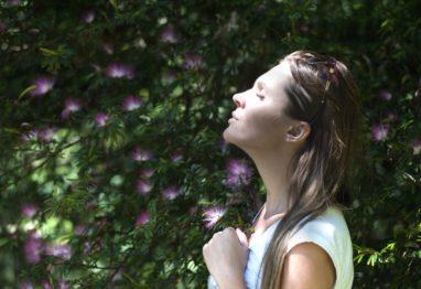 dihanje ženska narava cvetlice