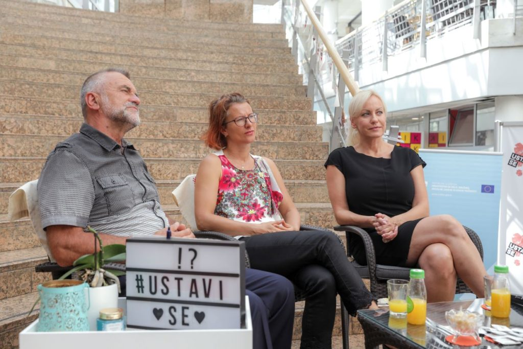 Ustavi se 2019 - Govorci - Imre Jerebic, Brigita Langerholc in Petra Kerčmar