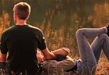 fant in punca jesen v naravi par