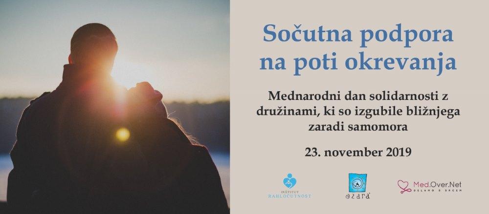 Mednarodni dan solidarnosti z druzinami, ki so izgubile bliznjega zaradi samomora - 23. november 2019
